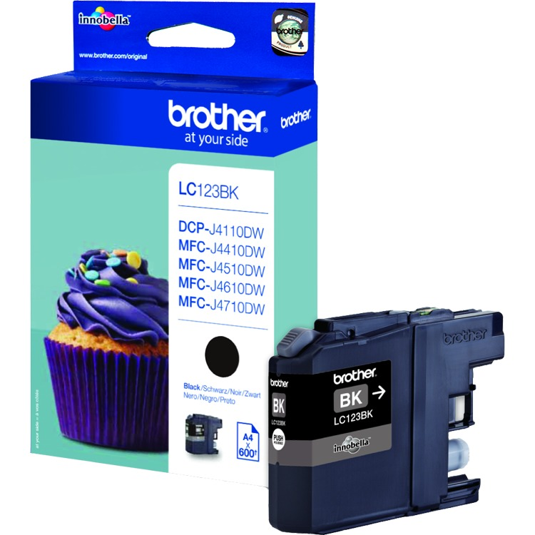 Brother LC-123BK Black (zwart)
