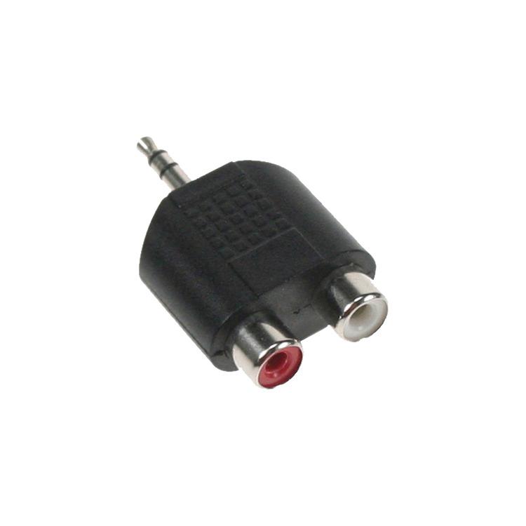 Adapter 3,5mm Jack > 2x Tulp
