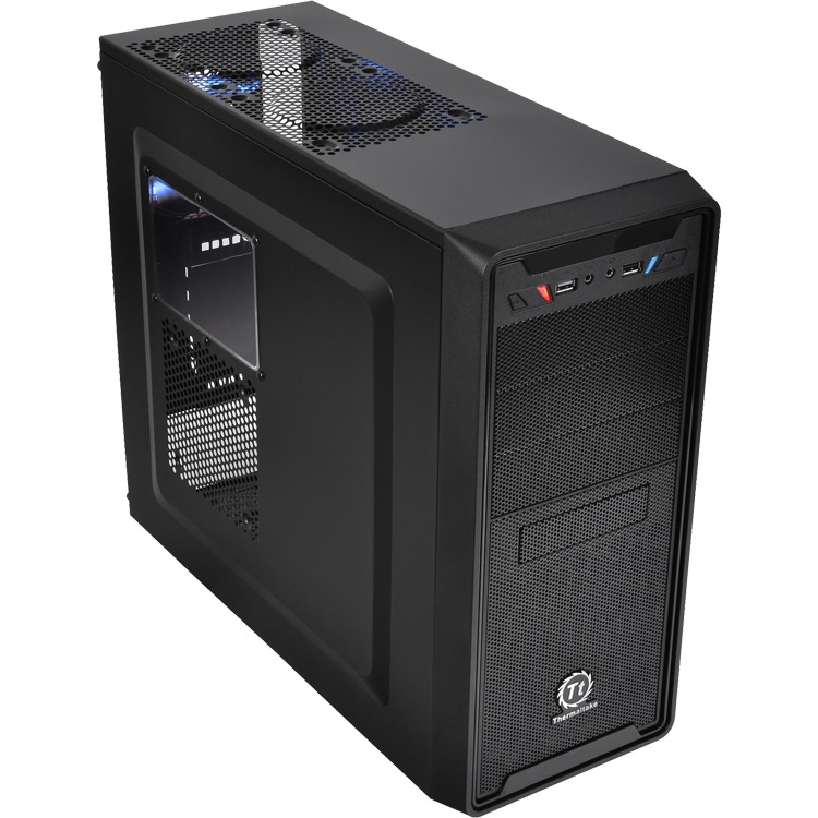 CASE Versa G2 Black / Ventilated front panel enhanced superior airflow / Bottom-placed PSU / USB 3.0