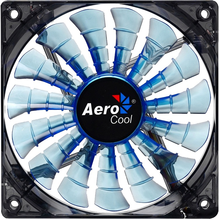 Image of Aerocool Shark Fan Blue Edition 14cm