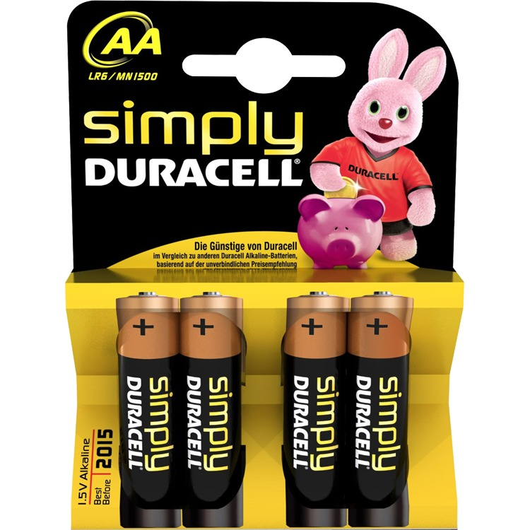 Duracell Simply 4-pack AA