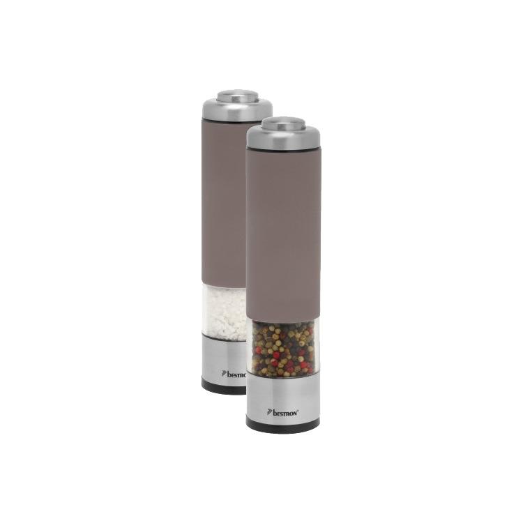 Bestron Elektrische Peper- & Zoutmolen APS526T - Taupe