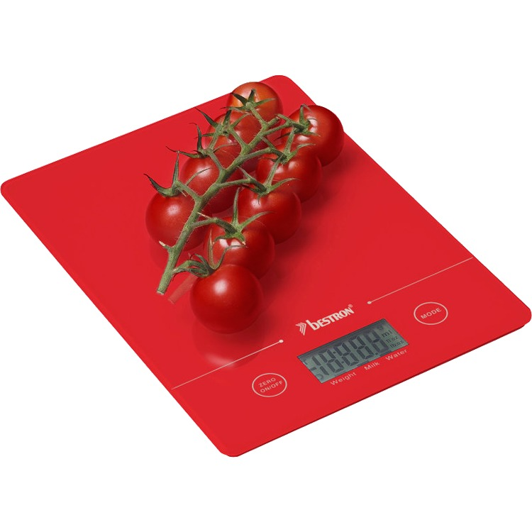 Bestron Keukenweegschaal AKS700R - Rood
