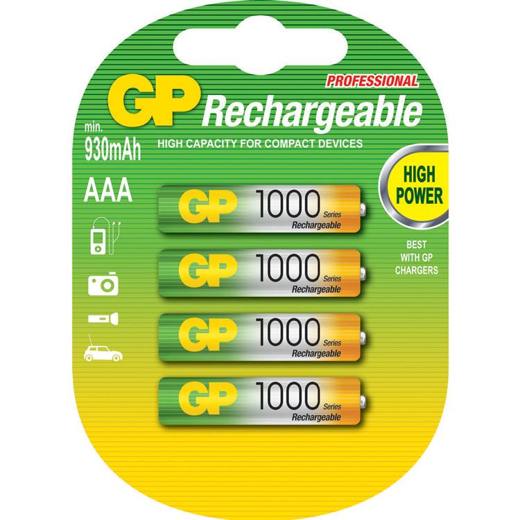 GP NIMH AAA 1000 SERIES 4
