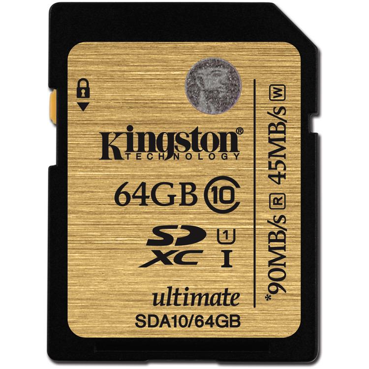 Kingston SDXC Ultimate 90 mb/s 64 GB Class 10