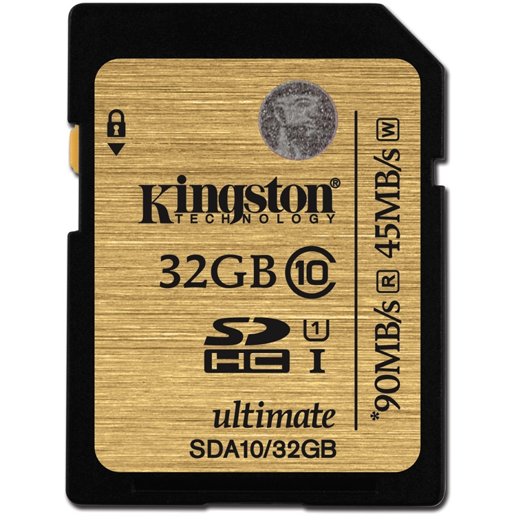 Kingston SDHC Ultimate 90 mb/s 32 GB Class 10