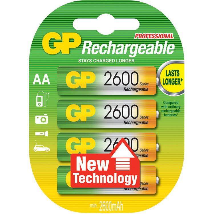 GP NIMH AA 2600/2700 4 STUKS