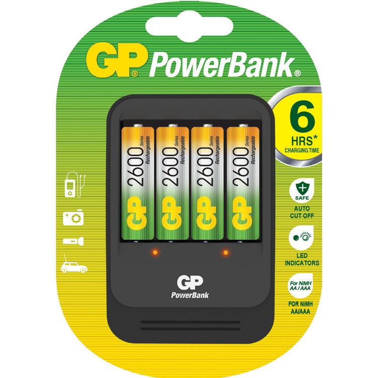 GP PB570+4AA batterijlader