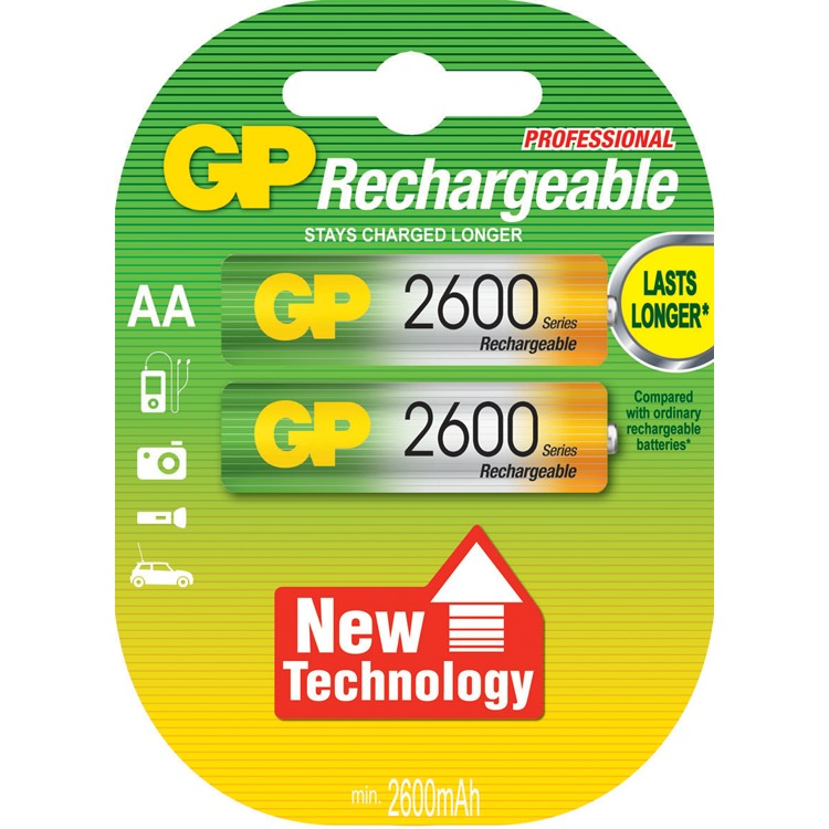 GP NiMH AA 2600 2 pack
