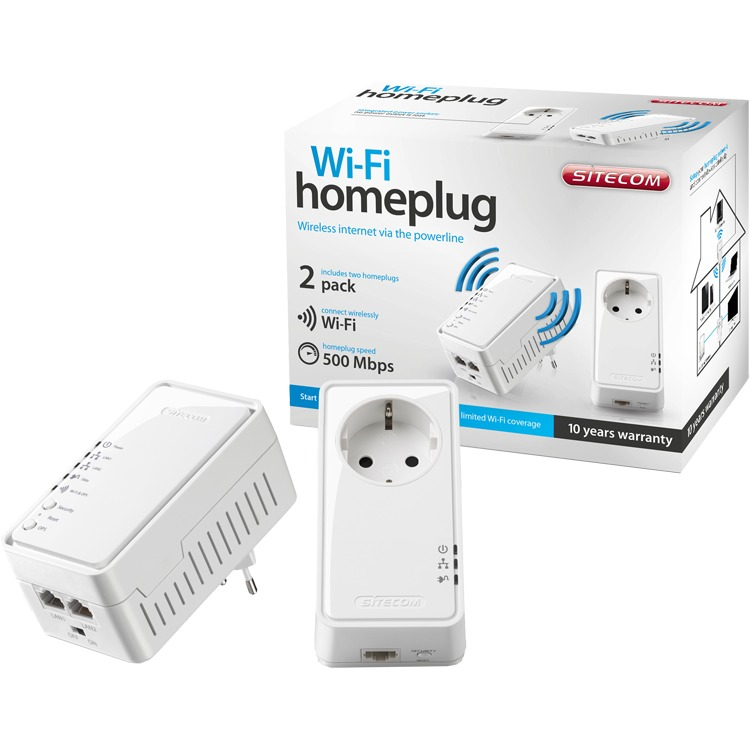 SITECOM WiFi Homeplug Kit 500mbps LN-555