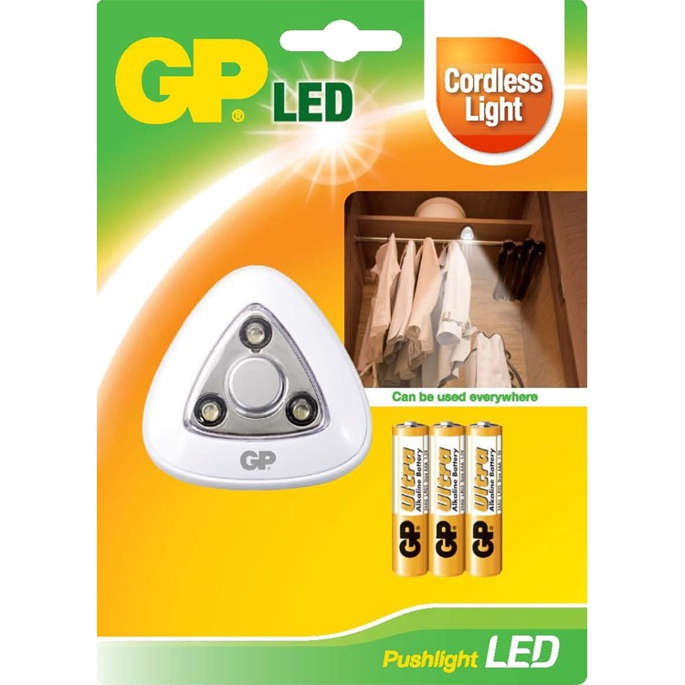 GP Lighting Pushlight LED lamp incl. batterijen