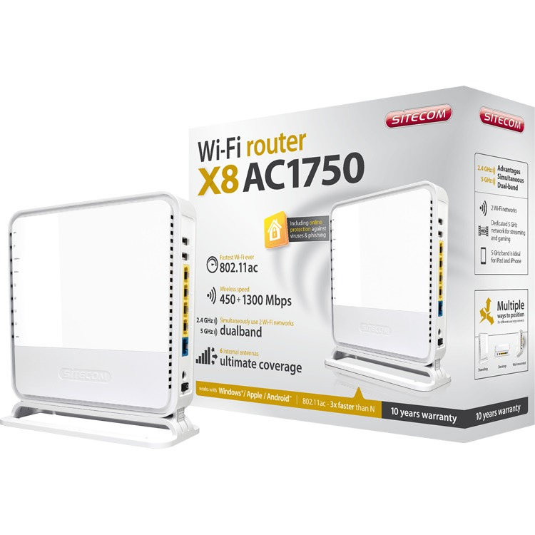 SITECOM Wireless-AC1750 Router - WLR-8100