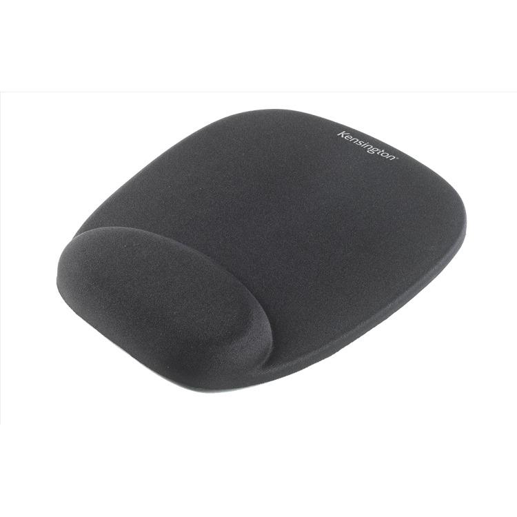 Kensington Foam Mouse Wristrest - Mouse pad with wrist pillow - black