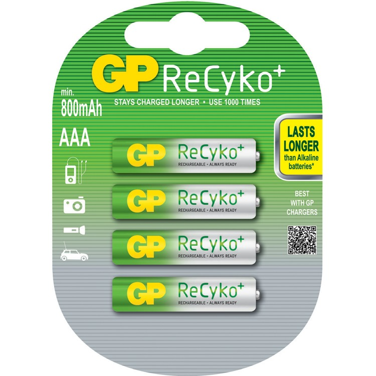 GP RECYKO+ AAA 850MAH 4