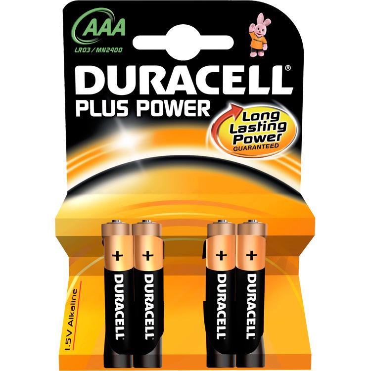 Duracell LR03 AAA batterijen 4-pak