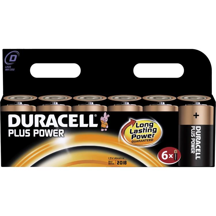 Duracell D Plus Power (6 pack)