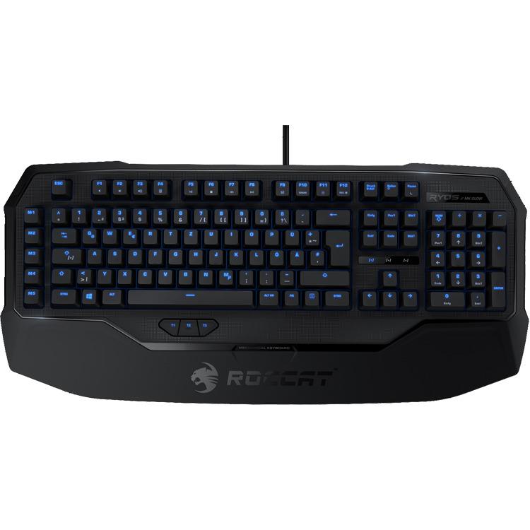 Roccat Ryos MK Glow MX Qwerty Gaming Toetsenbord - Zwart (PC)