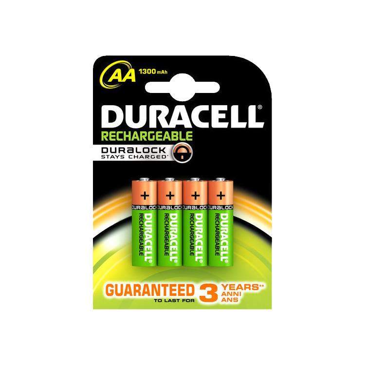 Duracell Oplaadbare Batterijen AA 1300 Mah 4x Pak