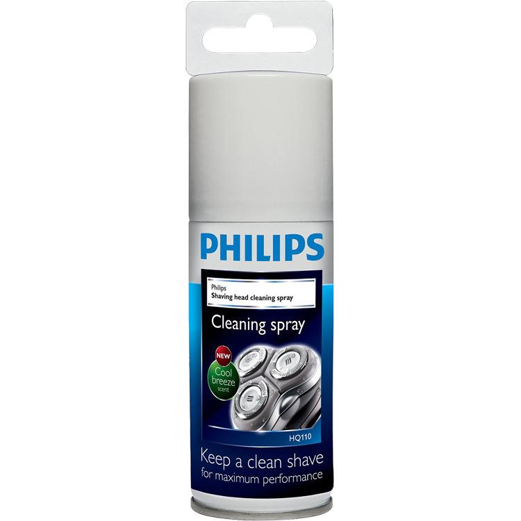 Reinigingsspray voor scheerkoppen, Philips, 'HQ110'