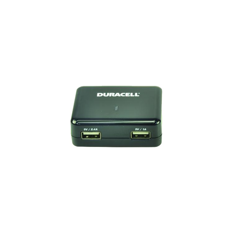 Duracell Twin USB 1A + 2,4A Internationale Thuislader