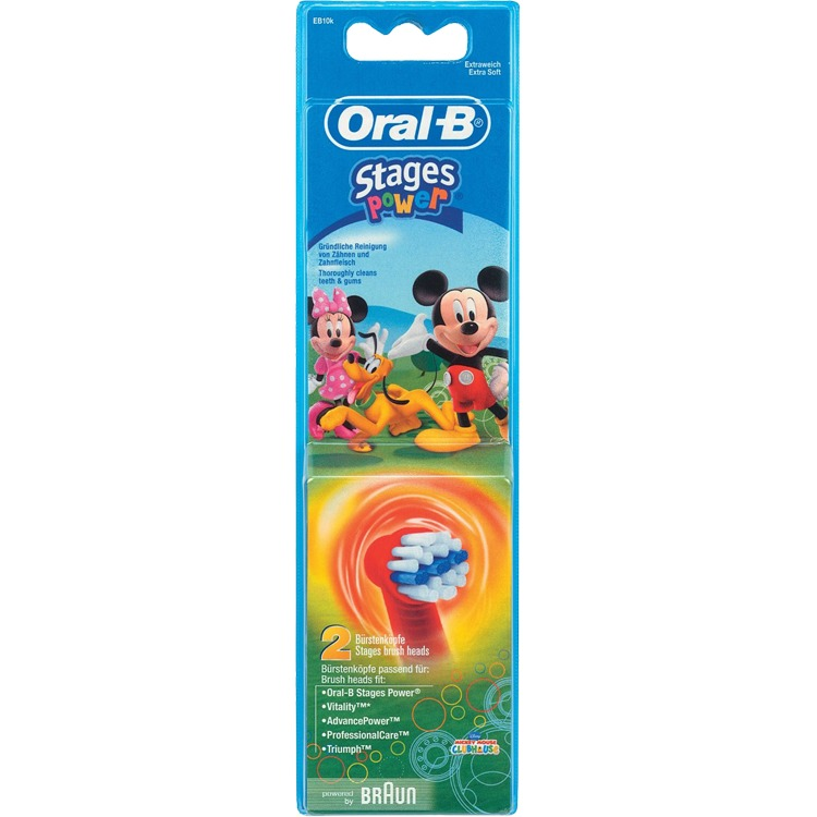 Oral-B KIDS Mickey Mouse (2 stuks) Opzetborstel