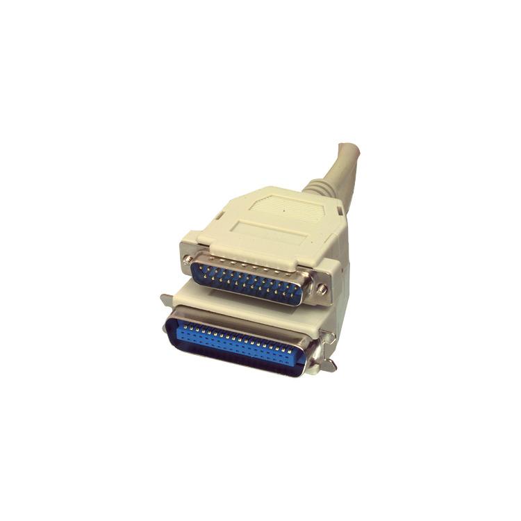 Valueline - Parallel - Centronics kabel - Grijs - 3  meter