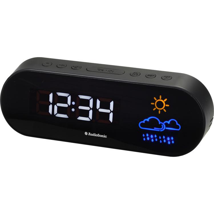AudioSonic CL-1489 - Wekker radio - Zwart