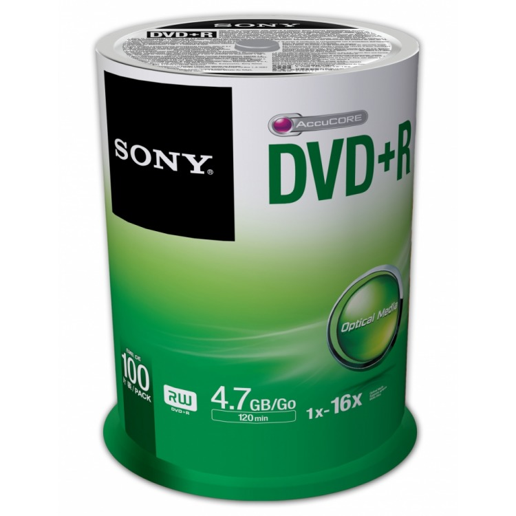 DVD+R 16X SPINDLE 100 PCS