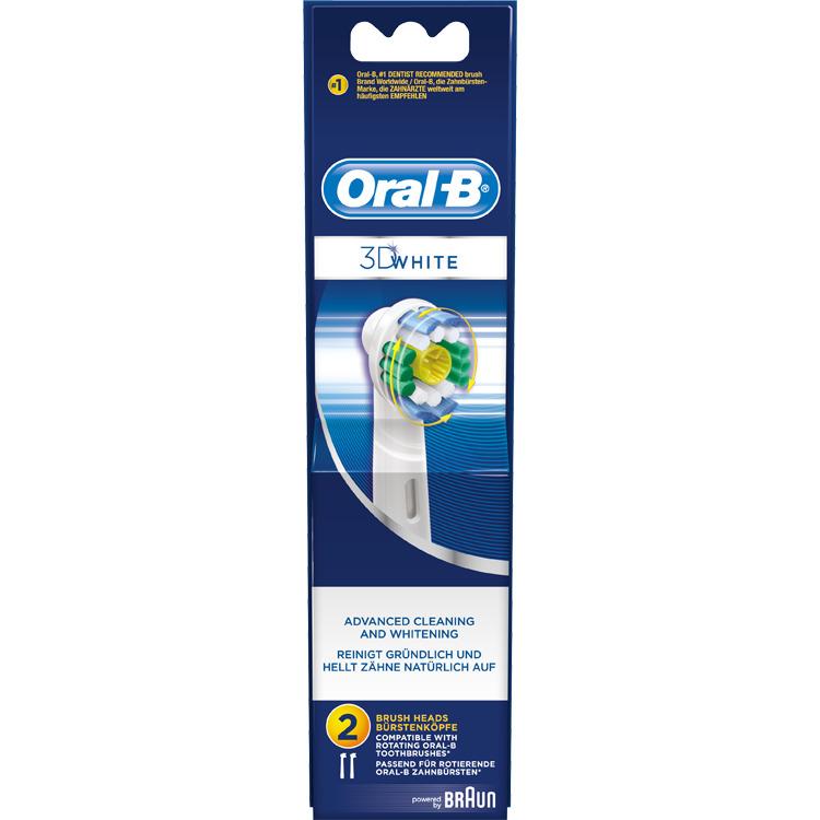 Opzetborsteltje, Oral-B, '3D White', set van 2