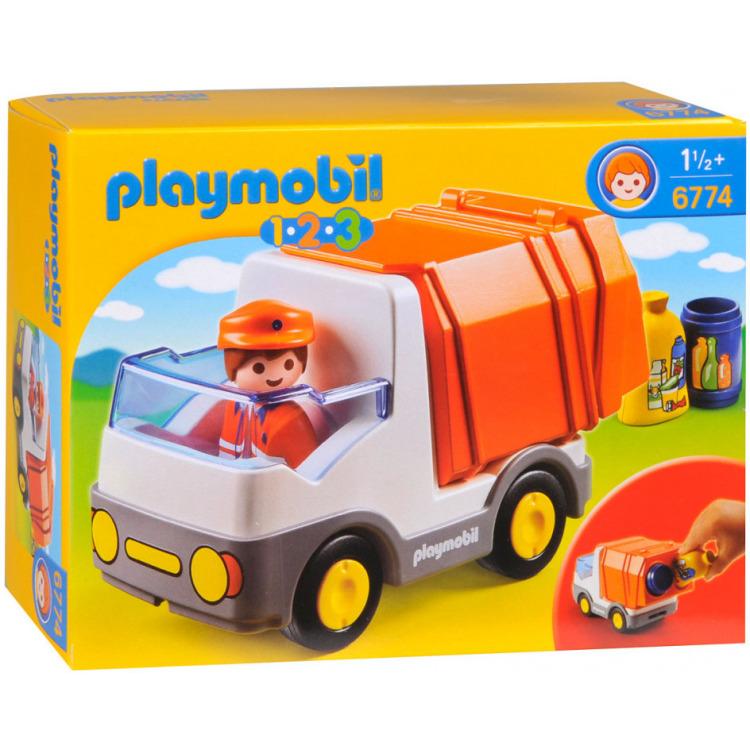 Playmobil 1.2.3. Vuilniswagen 6774