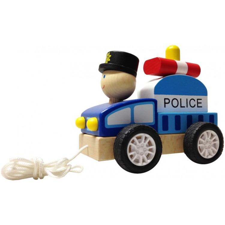 Trekautootje BuToy: politieman 15x10x8 cm (22627C)