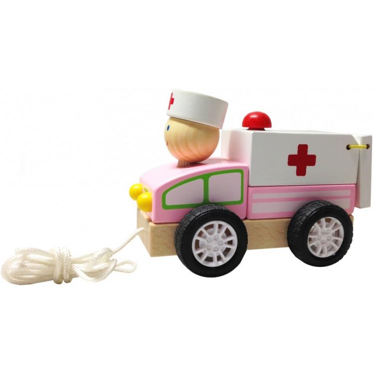 Image of Houten Trekautootje - Ambulance