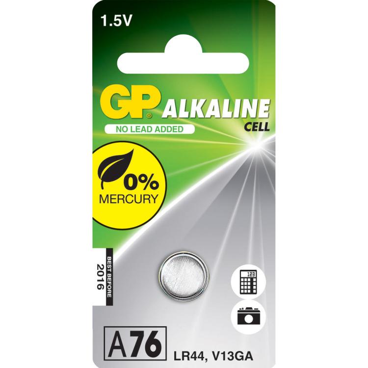 Gp Bat.alkaline Knoopcel A76 ^ Stuk