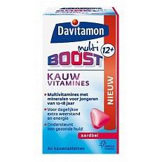 Image of Davitamon Multi Boost 12+ Kauwvitamines Aardbei 60tab