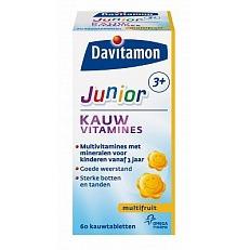 Image of Davitam Junior 3+ Kauwvit Multifruit 60 Stuks