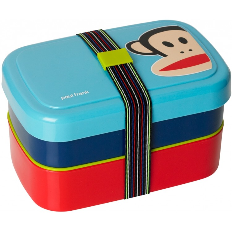 Paul Frank Lunchbox - Set van 3 stuks - Blauw