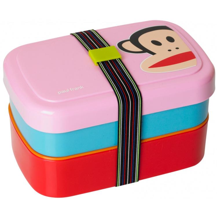 Paul Frank Lunchbox - Set van 3 stuks - Roze