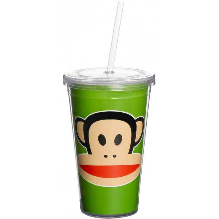 Paul Frank Drinkbeker - Incl rietje - 500 ml - Groen