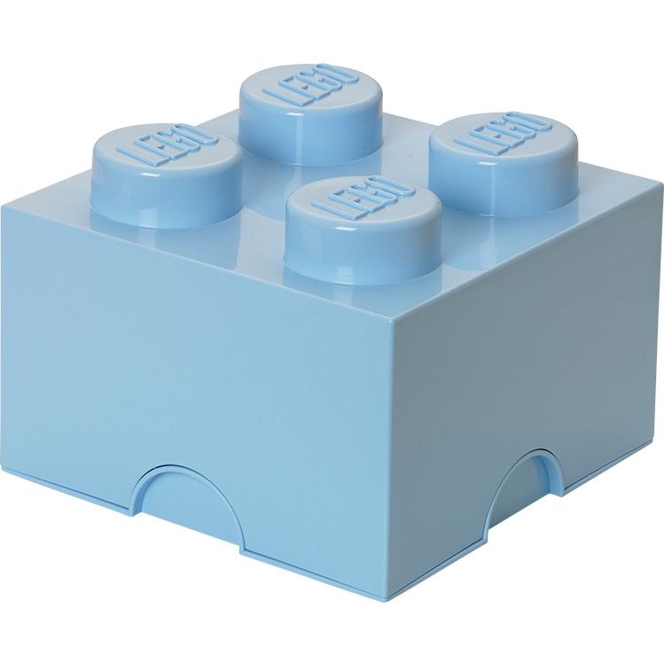 Lego Opbergbox - Brick 4 - 25 x 25 x 18 cm - 6 l - Lichtblauw