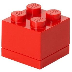 Lego Classic Lunchbox - Mini 4 - 4,6 x 4,6 x 4,3 cm - Rood