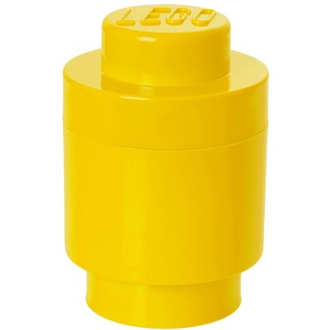 Lego Opbergbox - Brick 1 - Rond - Geel
