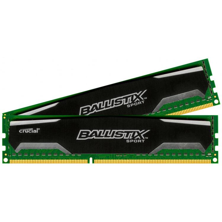 16GB Kit (8GBx2) DDR3 1600 MT/s (PC3-12800) CL9 @1.5V Ballistix Sport XT UDIMM 240pin