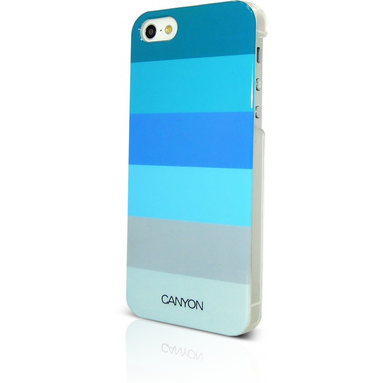 Image of Canyon Cna-i5c02 bl Iphone 5 Hard Cover Case met Stylus en Screen Protector Blauwtinten