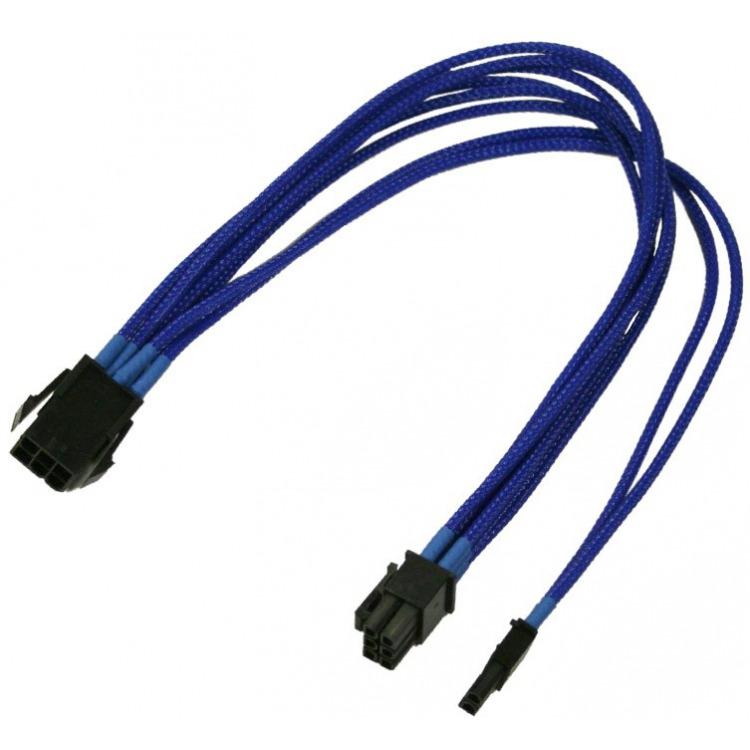 6-polig PCIe naar 6+2-polig PCIe adapter 30 cm