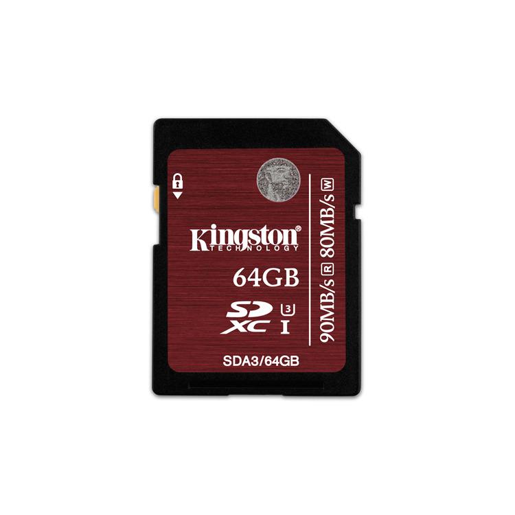 64GB SDXC UHS-I Speed Class 3 Flash Card