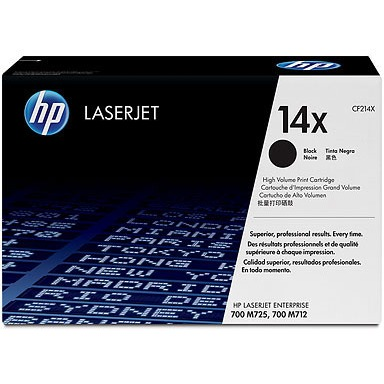 HP 14X - High Yield - black - original - LaserJet - toner cartridge ( CF214X ) - for LaserJet Enterprise 700