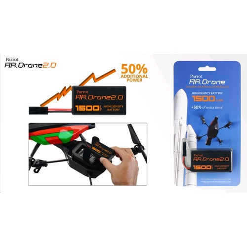 Parrot AR.Drone 2.0 - Batterij - HD 1500 mAh