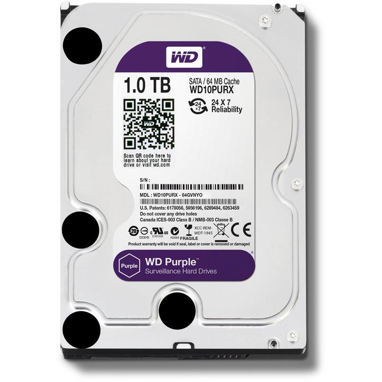 HDD : 1.0TB SATA6 64MB intellipower PURPLE 3 Years warrenty