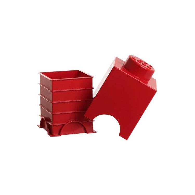 Lego Opbergbox - Brick 1 - 12,5 x 12,5 x 18 cm - 1,2 l - Rood