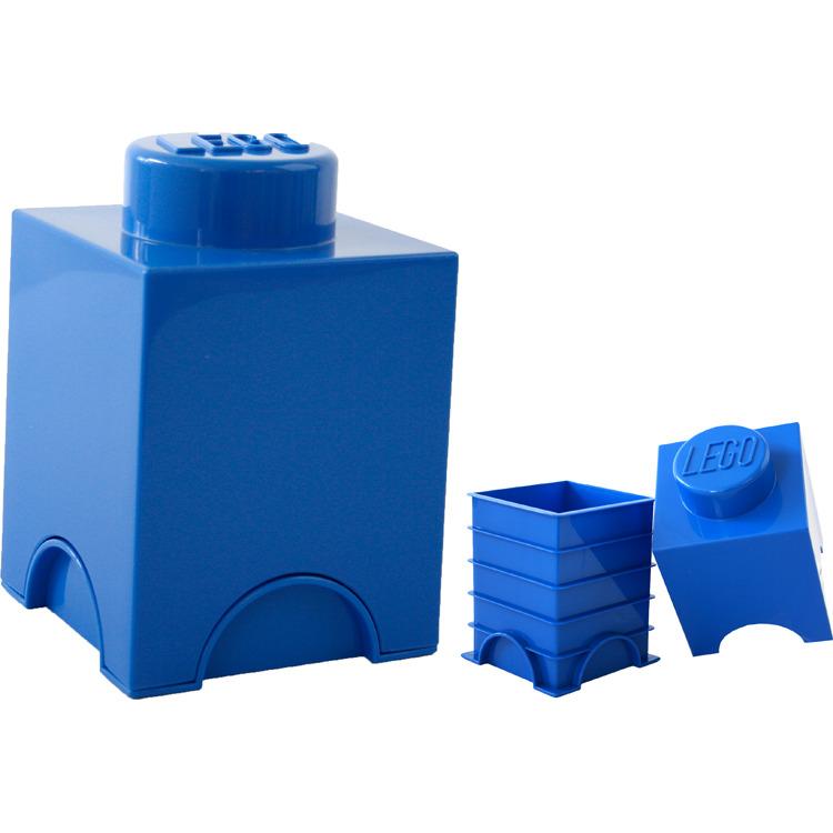 Lego Opbergbox - Brick 1 - 12,5 x 12,5 x 18 cm - 1,2 l - Blauw